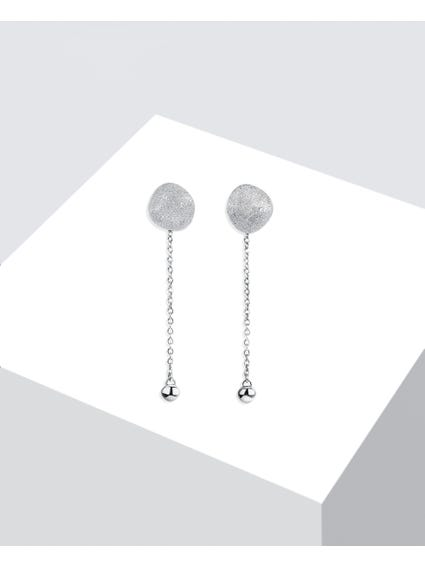 Grey Diamond Finishing Drop Earrings