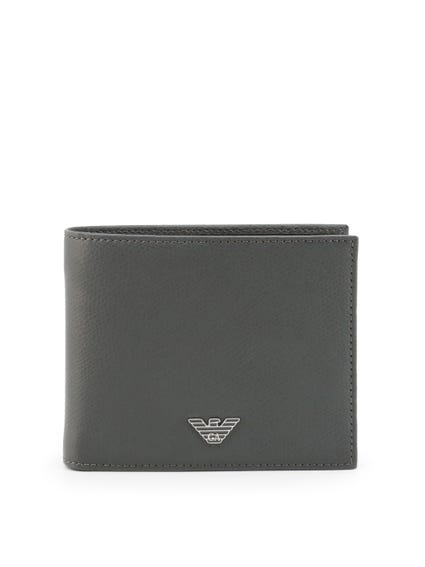 Grey Bi Fold Leather Wallet