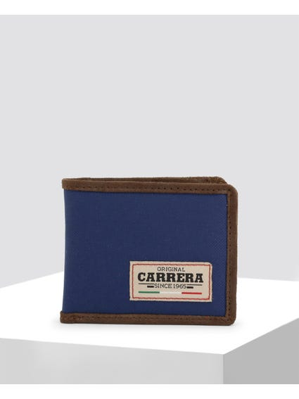 Dark Blue Country Bifold Leather Wallet