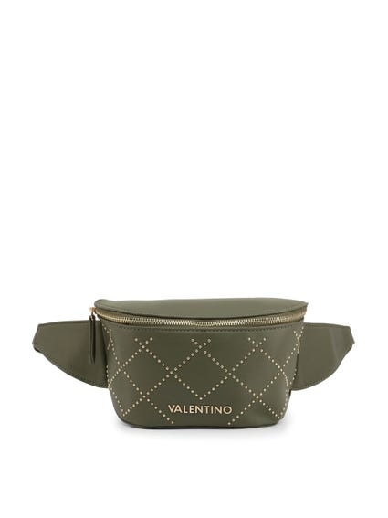 Green Visible Logo Pouch Bag