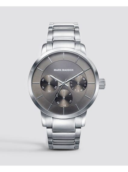 Grey Dial Multifunction Watch