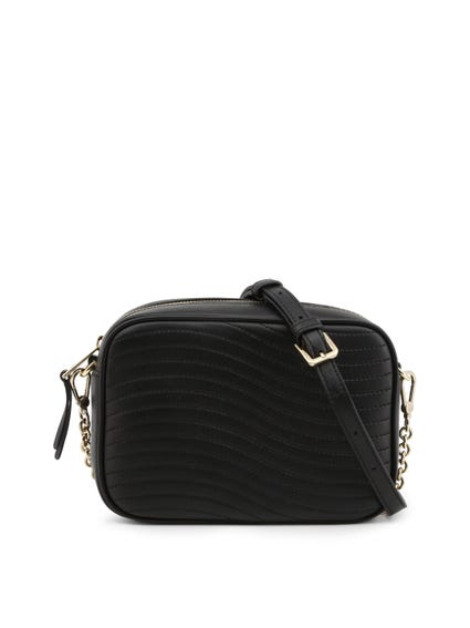 Black Zip Shoulder Strap Crossbody Bag