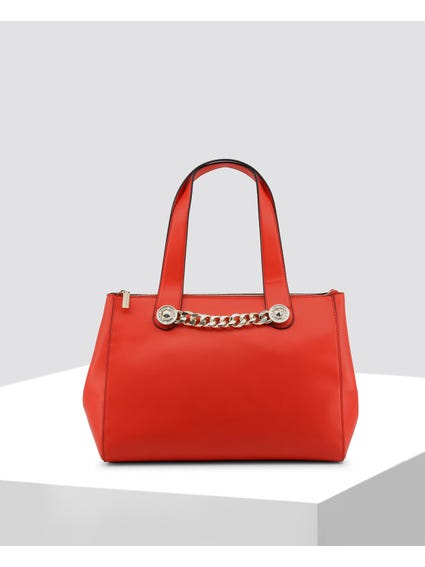 Red Embellished Shoulder Bag