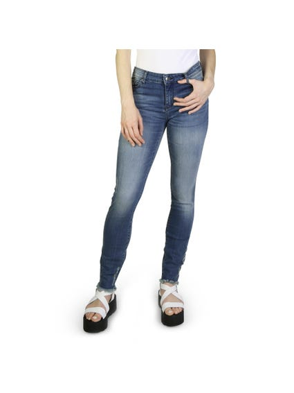 Denim Pocket Zip Skinny Jeans
