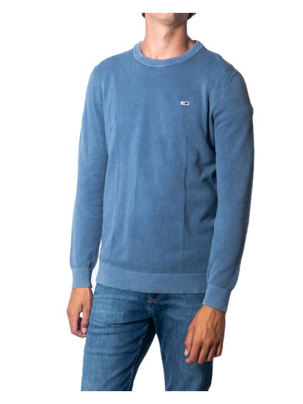 Blue Round Long Sleeve Knitwear