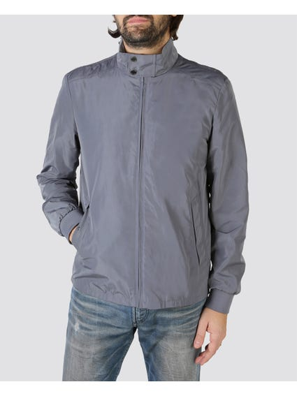 Grey Anorak Bomber Jacket