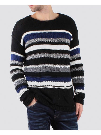 Stripes Knitted Pullover