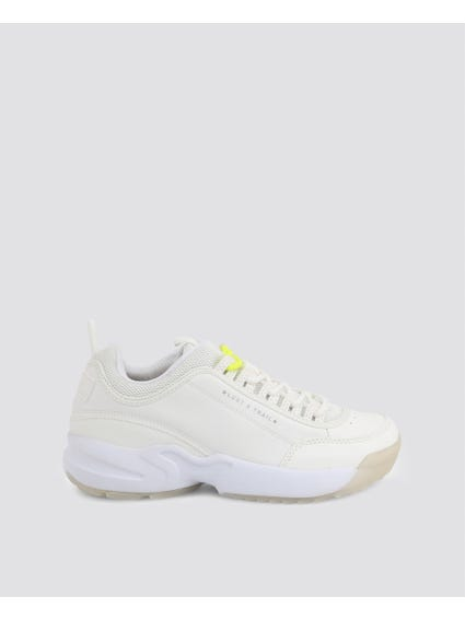 White Panel Chunky Sneakers