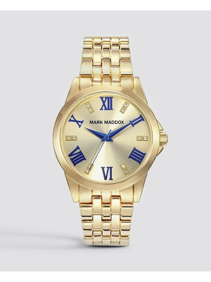 Gold Full Linked Stainless Steel Watch