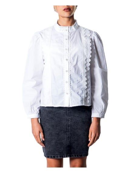 Mandarin Collar Button Shirt