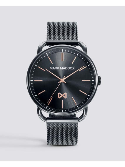 Midtown Black Dial Stainless Steel Watch