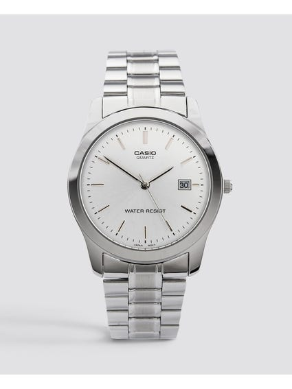 Stainless Steel White Dial Analog Watch
