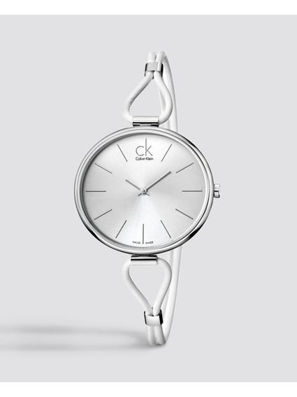 Selection Silver Dial Leather Watch