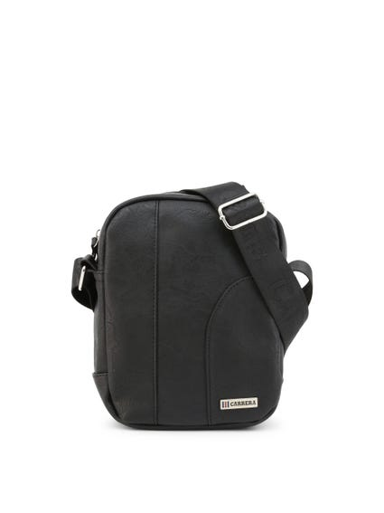 Black Hold Round Zip Crossbody Bag