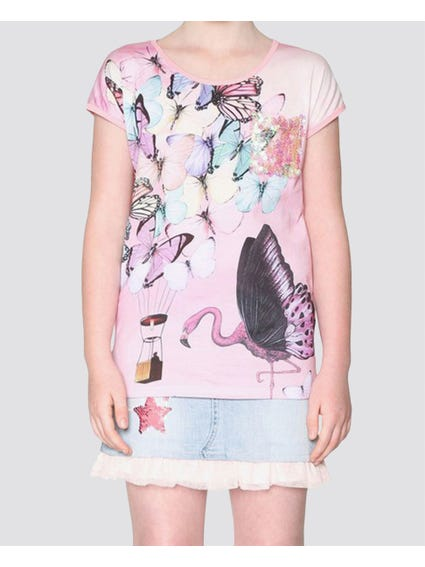 Multicolour butterflies Kids Top