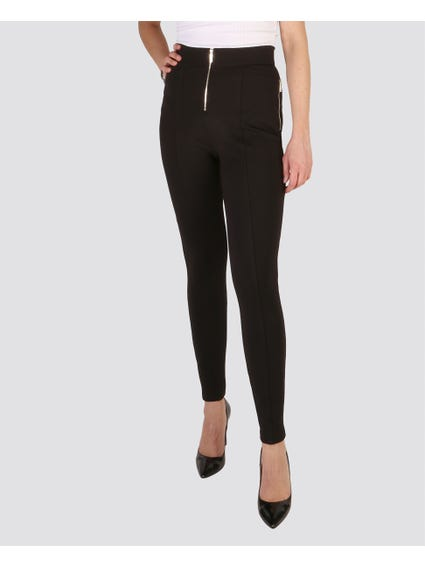 Black Zipped Trouser