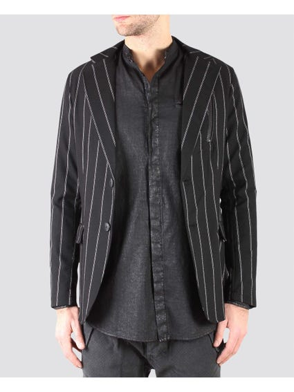 Black Stripes Lining Long Sleeve Blazer