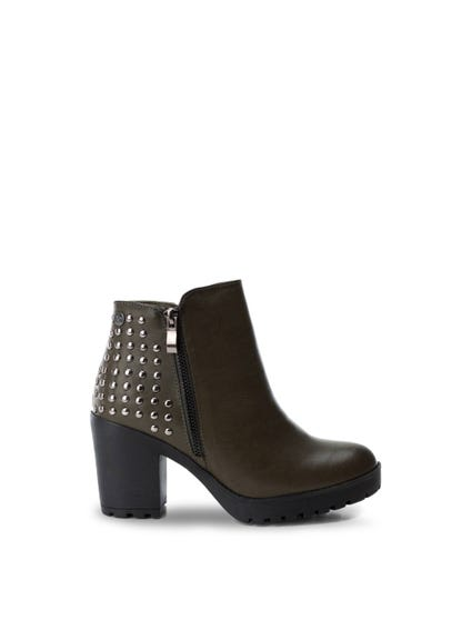 Suede Embellished Ankle Boots