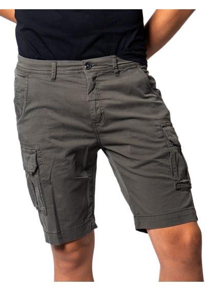 Button  Zipper Cargo  Short