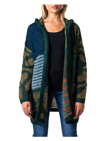 Multi Open Front Knitted Cardigan