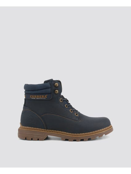 Navy Tennesse Cleated Ankle Boots