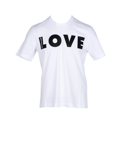 White Love Print T-shirt