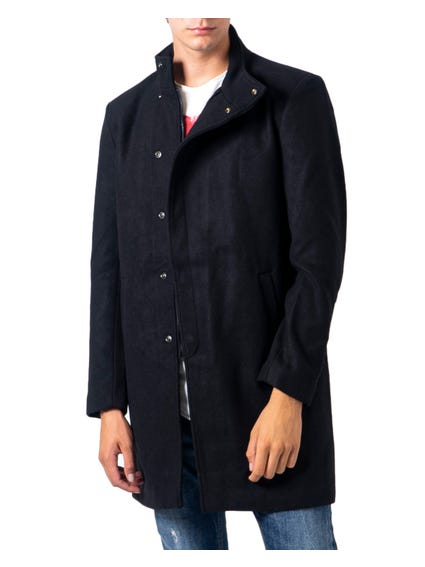 High Neck Pocket  Button Coat