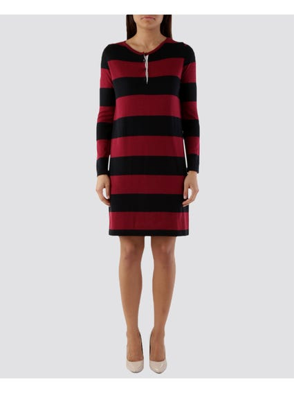 Crew Button Knitted Dress