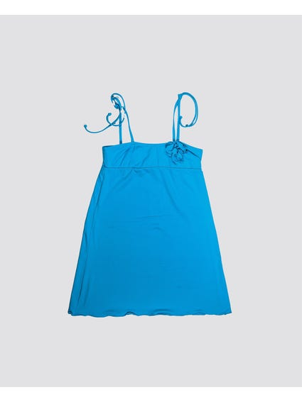 Blue Strappy Kids Dress