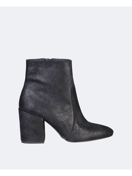 Black Nadia Side Zipped Ankle Boots