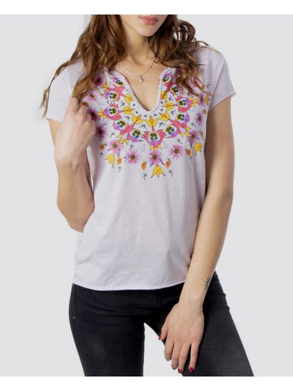 Mandala Low Neckline T-Shirt