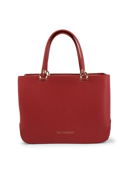 Red Firebrick Plain Leather Hand Bag