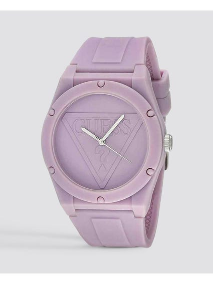 Iconic Purple Silicone Quartz Watch