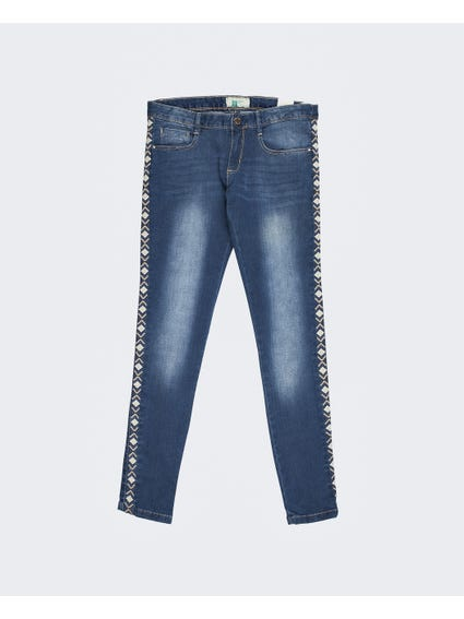 Embroidered Denim Kids Jeans