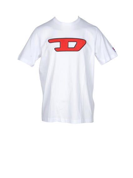 White Crew Neck Graphic T-shirt