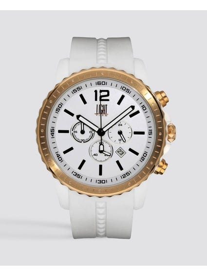 Gold Case Chronograph Watch