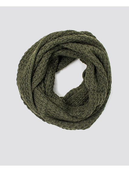 Green Knitted Scarves