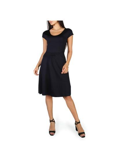 Casual Wide Neckline Dress