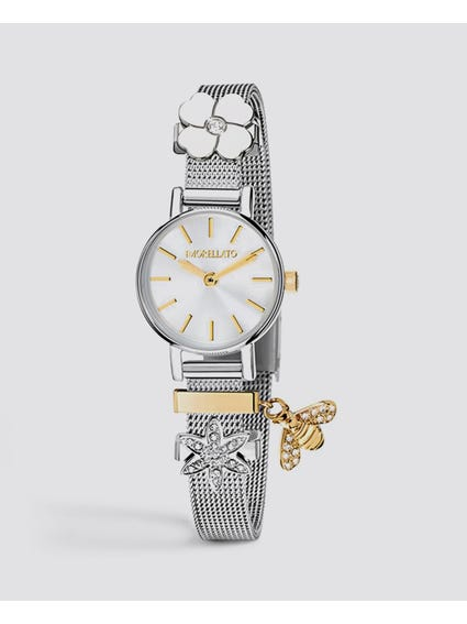 White Dial Jewelled Analog Watch