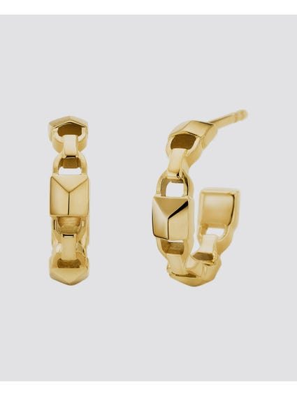 Gold Mercer Link Earring
