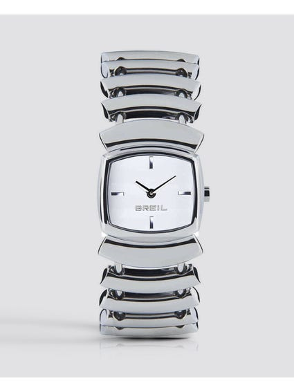 White Dial Flowing Analog Watch