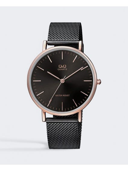 Black Dial Stainless Steel Watch