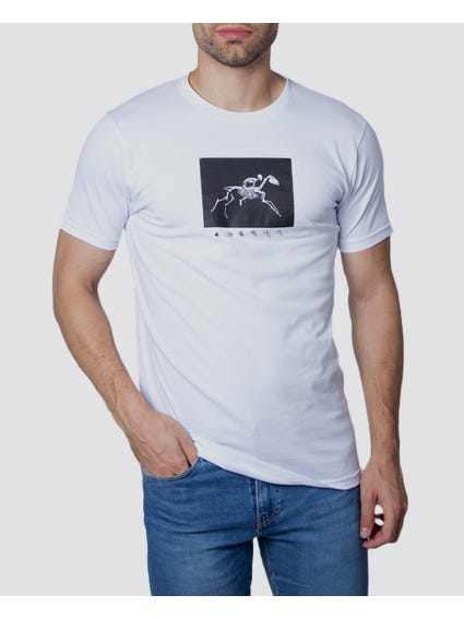 White Graphic Printed T-Shirt