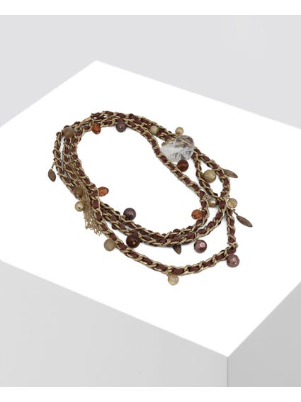 Brown Appliques Necklace