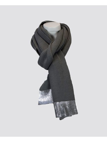 Grey Laya Knit Scarf