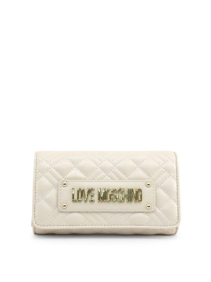 White Snap Quilted Wallet