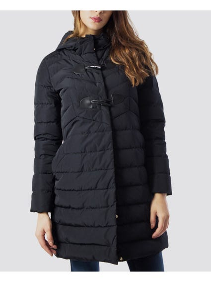 Black Quilted Toggle Jacket