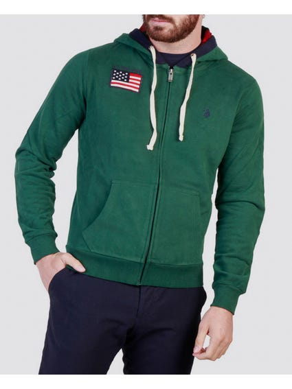 Green Flag Print Sweatshirts