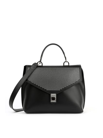 Black Studs Cross Body Bag