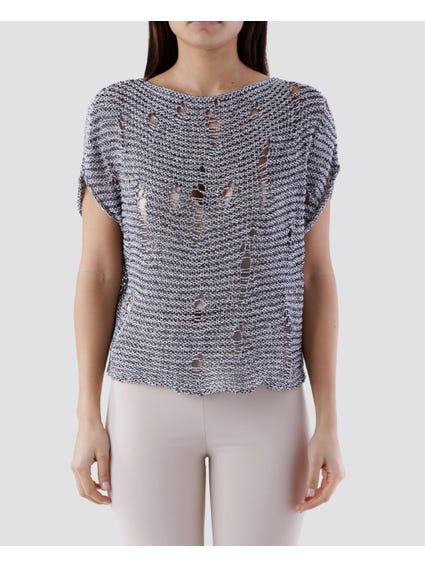 Cut Out Knitted Top
